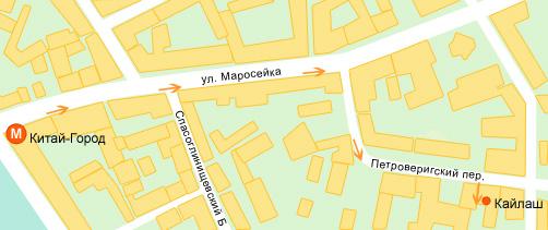 Карта проезда в «Кайлаш»