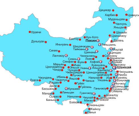 Авиабилеты в Китай. Внутренние авиаперелеты по Китаю