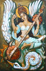 Индия. выставка живописи