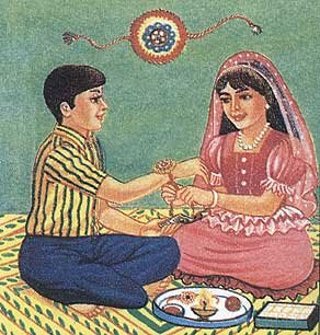 Праздники Индии. Ракша Бандан
