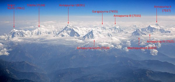карта Аннапурны