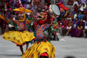 Бутан. Фестиваль Цечу