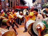 Новый год в Непале. Фестиваль Бискет