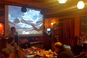 Встреча в ресторане Тибет-Гималаи
